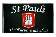 Fahne Fanflagge St. Pauli - You'll never walk alone Flagge  Hissflagge 90x150cm