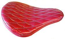 "HARLEY DAVIDSON CHOPPER BOBBER 16"" SOLO SEAT RED METAL FLAKE DIAMOND LA ROSA"