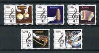 Aruba Music Stamps 2016 MNH Musical Instruments Bongo Marimba Raspa 5v Set