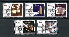Aruba 2016 MNH Musical Instruments 5v Set Bongo Marimba Raspa Music Stamps