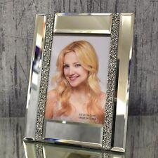 Bilderrahmen für 9x13 cm Verspiegelt Strass Kristallglas Dekoration Foto Spiegel