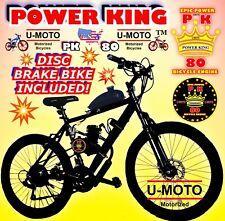 2-Stroke 66cc/80cc Motorized Bike Kit And Disc Brake Mountain Bicycle Diy
