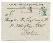 """FINLAND TO THE U.K AT PRINTED PAPER RATE WITH E.C """"11"""" INSPECTORS MARK 24.9.1902"""