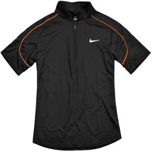 Nike Women's Sports Shirt Functional Polo Running Fitness Tennis Top Black