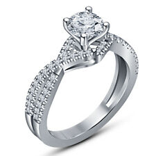Engagement Ring 14K White Gold Over Ladies 2.5 Ct Round D/Vvs1 Diamond Solitaire