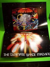 Williams FIREPOWER Original 1980 Fold Out Pinball Machine Poster Flyer Space Age