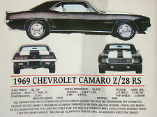 CAMARO  Z28/RS CHEVROLET 1969 Short Sleeve