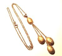 Sterling Silver Charles Garner Golden .925 Triple Sparkle Dangle Necklace