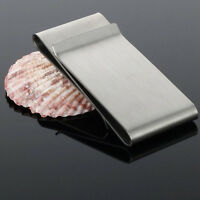 Stainless Steel Silver Slim Money Clip Purse Wallet Credit Card Holder Pop