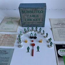 Vintage Subbuteo Table Cricket Set In Original Box 1958 Excellent Rare Set