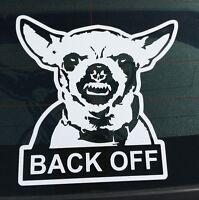 Chihuahua Back OFF Funny Bumper Sticker Vinyl Window Body Decal Car Truck