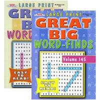 KAPPA Large Print Great Big Word Finds Puzzle Book | 2-Titles