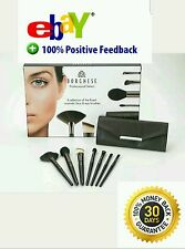 New BORGHESE Professional Select Cosmetic Makeup Brush 8 Pc Blck Gift Box