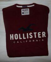 NWT MENS HOLLISTER CALIFORNIA S/S T-SHIRT~WINE~SZ MED