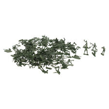 120pcs Assorted WWII Army Men Action Figures Playset 5cm Soldiers (Green)