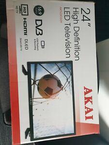 "Akai 24"" Inch HD LED TV with 1 x HDMI, 1 x USB and USB Media Player"