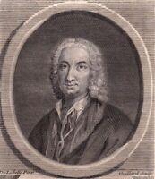 Portrait XVIIIe Jean-Bap Willart De Grécourt Chanoine Poète Ecrivain Philotanus