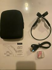 Aftershokz AIR wireless bone conduction headphonesAS650 Grey Tested w/cord&pouch