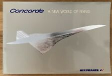 AIR FRANCE AIRLINES 1976 CONCORDE  INTRO PROM CUTAWAY BROCHURE SEAT CHART
