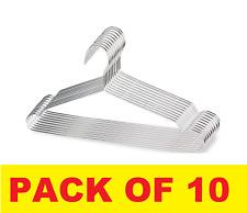 10 x 40cm Stainless Steel Hanger Metal Coat Hangers Trouser Hangers,Suit Hanger