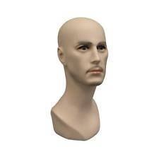 Realistic Adult Male Fleshtone Fiberglass Mannequin Display Head