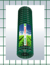 RETE METALLICA PLASTIFICATA  RECINZIONE GABBIE ELETTROSALDATA  5x7,5cm H. 125 CM