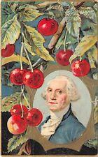 PATRIOTIC c1910 Embossed Postcard George Washington Cherry Tree