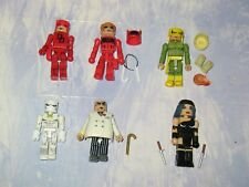 LOT OF 6  MARVEL MINIMATES ACTION FIGURES - DAREDEVIL - ELEKTRA - WHITE TIGER