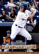 2018 Midland RockHounds Grandstand #25 Brett Vertigan Long Beach California Card