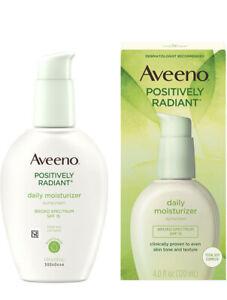 Aveeno Positively Radiant Skin Daily Moisturizer SPF 15 4oz (120 ml)