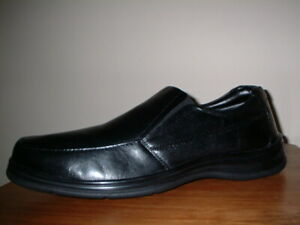 MENS PAVERS BLACK LEATHER CLASSIC SLIP ON SHOES SIZE 11/45 WIDE FIT WORN ONCE