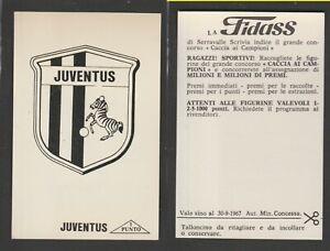 FIGURINA CALCIATORI ALBUM FIDASS 1967-68  JUVENTUS SCUDETTO