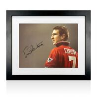 Framed Eric Cantona Signed Manchester United Photo - The King Autograph