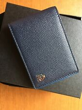 Dunhill Cadogan Navy Blue Leather Mens Cardholder Wallet NEW IN BOX