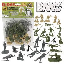 BMC WW2 D-DAY Plastic Army Men 34 American British German Soldier Figures 1:32