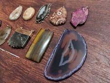 Crystal Pendant Necklace Lot Of 10 Gemstone Wholesale Group 4 Stone Jewelry