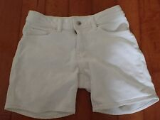 Girls White Denim Jean Style Shorts by Uniqlo Size 11