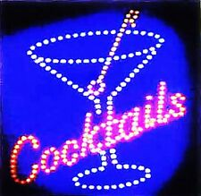 Ultra Bright LED Neon Light  Animated Motion COCKTAILS Business Sign L83