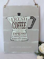 Rustic Coffee Specialist Sign Espresso Cappuccino Wooden Plaque