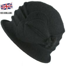 5fad03446ec5b LADIES WOOL CLOCHE FELT HAT 1920 s CRUSHABLE WINTER DOWNTON ABBEY UK SELLER