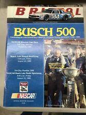 RARE 1985 Busch 500 NASCAR Race Program Bristol Dale Earnhardt Sr Career Win #14
