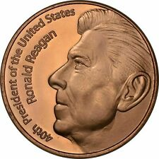 1 oz Copper Round - Reagan
