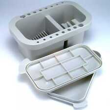 Jakar Rectangular Brush Tub With Integrated Palette in Lid. Ref 6552