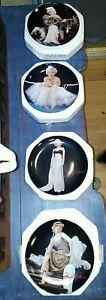 Marilyn Monroe Collector Plates. Bradford Exchange COA junk drawer. 4 plates.