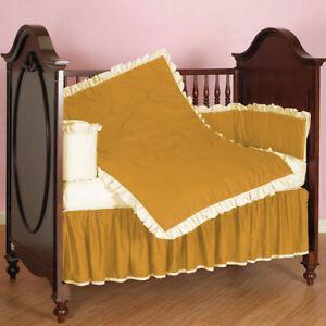 5pc Ruffle Reversible Baby Bedding Set Fitted Skirt Comforter Pillowcase Bumper