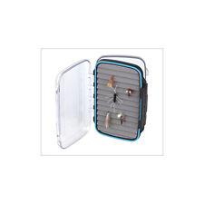 FREESHIP Plastic Waterproof Fly Box Double Sided Ripple Foams Fly Fishing large