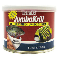 TETRA JUMBO KRILL FREEZE DRIED .87 OZ FISH FOOD JUMBO SHRIMP. FREE SHIP IN USA