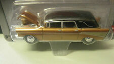 1957 Chevy Hearse ....Brown and Black colour ...Johnny Lightning