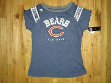 NWT Women's NFL Chicago Bears Short-Sleeve Blue Football Top Sz Large CUTE!!!
