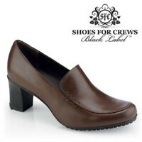 SFC Shoes for Crews Jackie Brown Leather Women's Shoes 3716 Sz 8.5 / 39 $69 NEW